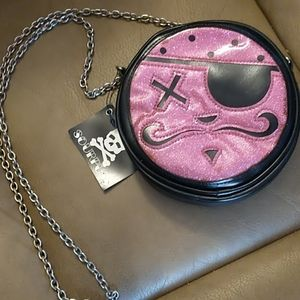 NWT Vintage Sourpuss Crossbody Pink Pirate Bag
